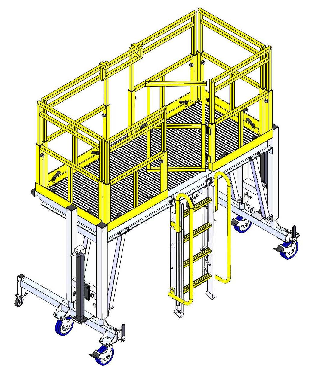 Work Platform with Ladder and Swing Gate