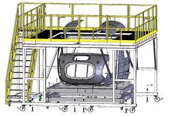 Work Platform Designed to Fit Around Tooling