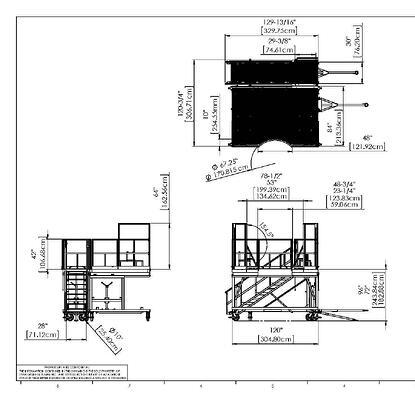2D Drawing of Work Platform
