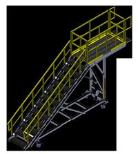 Spika Work Platform With Self-Closing Safety Gate
