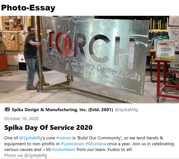 Spika Day of Service 2020 - @SpikaMfg Twitter Moment-1