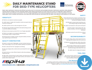 Download Brochure: Daily Maintenance Stands for Skid-Type Helicopters